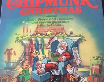 Vintage Chipmunks Christmas Record Album 1981 With Lyrics To Sing Along