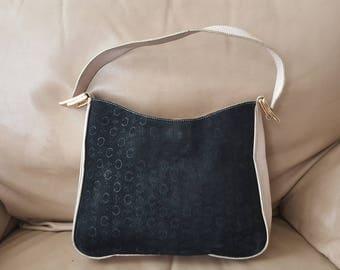 Vintage CELINE handbag suede/leather