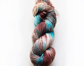 Hand dyed yarn 'Patina' 5ply sport weight 100g