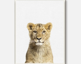 Baby Lion,Lion Print,Nursery Animal Print, Lion Portrait, Nursery Decor, Animal Nursery Art Decor, Digital Prints, Animals Instant Download