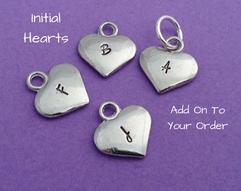 Initial Hearts - Add on to your order