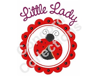 Little Lady Bug Machine Embroidery Design