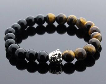 Tiger Eye Bracelet, Onyx Bracelet, Buddha Bracelet, Chakra Bracelet, Healing Jewelry, Meditation Bracelet, Yoga Jewelry, Healing Bracelet