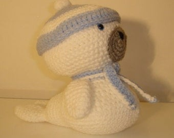 Baby Seal, Amigurumi Seal, Handmade Seal, Crochet Seal, Soft Toy, Stuffed animal, Gift,  Present, Toy, Birthday Gift