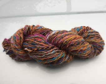 Rare Breed Sheep Handspun Hand Dyed Yarn 109 yards