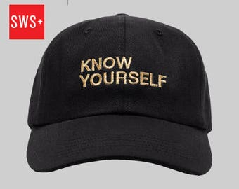Know Yourself Embroidered Baseball Cap - Drake Inspired