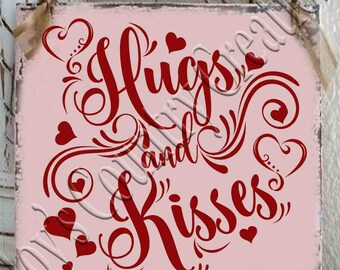 Hugs and Kisses  SVG, PNG, JPEG