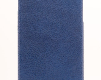 Genuine Leather Phone Case - Blue Leather
