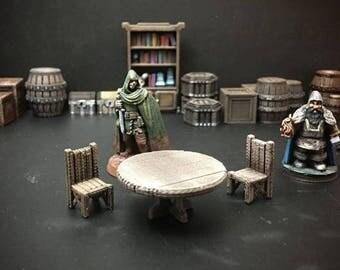 28mm Tabletop Wargaming Inn Tavern Terrain Decoration Furniture