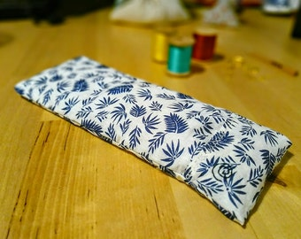 Yoga Savasana Eye Pillow with Removable Cover, Lavender and Flax Seed Filling