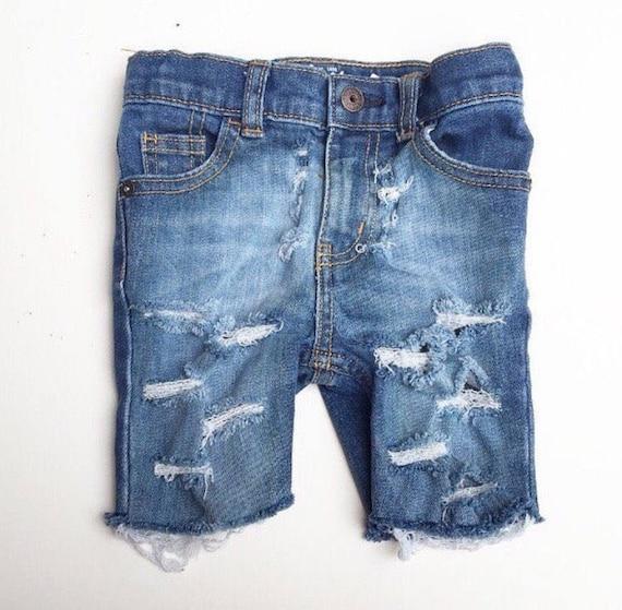 Cut Off Skinny shorts Size 6months kids size 12 boys jeans