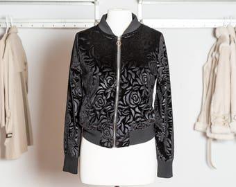 THALIA velvet bomber jacket roses coat women trendy beautiful fashion stylish fashionista feminine