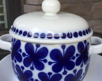 Sale! Rare Find! Rorstrand Mon Amie Gravy Boat & Lid / Pot / Bowl Jam Jelly