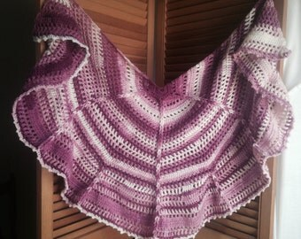 Crochet PATTERN - crochet shawl pattern, prayer shawl crochet, crochet womens wrap pattern, adult shawl crochet pattern, crochet pdf