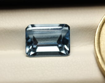 Aquamarine emerald cut 3.52ct 9.5mm x 7.5mm