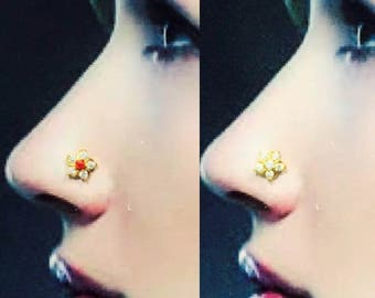 Stunning Nose Stud Pin in Pure Yellow Gold