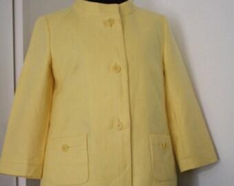New Vintage Lemon Linen Talbot's Jacket