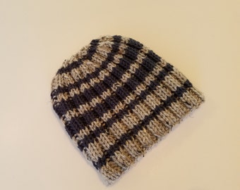 Toddler hat, boy hat, knitted boy hat, stripped knitted hat