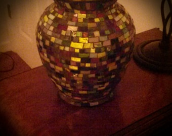 Mosaic vase/candle holder