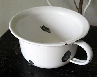 Vintage enamel pot