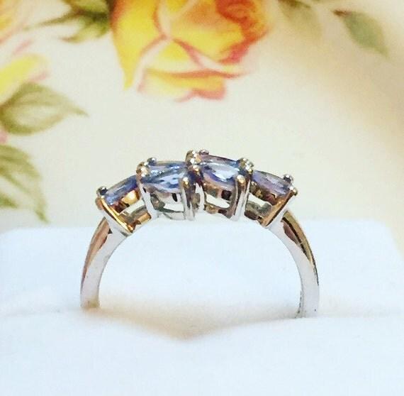 Beautiful Tanzanite: Beautiful Sterling Silver Tanzanite Ring Silver Tanzanite