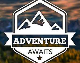 Adventure Awaits Sticker for Car, Window, Computer or Notebook - Decal