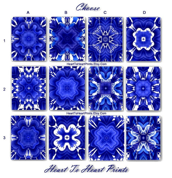 Items similar to blue wall art royal blue wall decor - Cobalt blue bathroom accessories ...