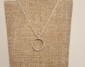 Minimalist Circle Sterling Silver Necklace