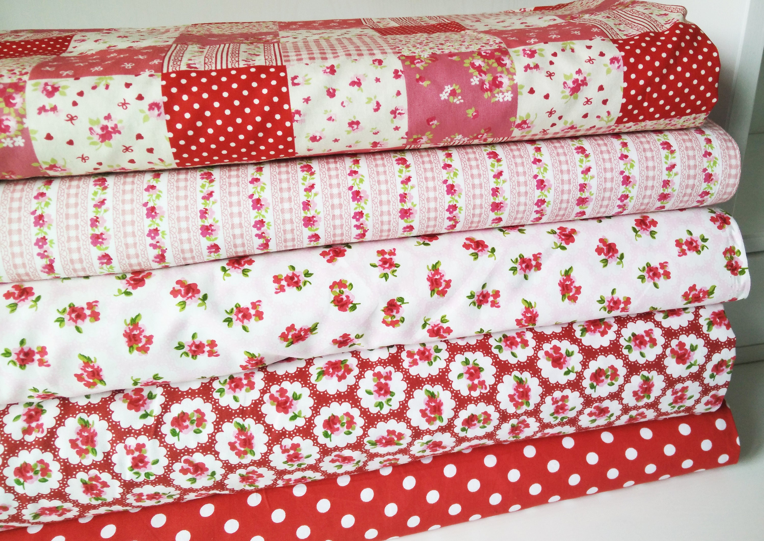 Fat Quarter Bundle Shabby Chic Fabric Country Kitchen