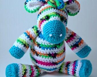 Crochet Zebra Toy - Blacklight