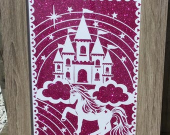 UNICORN CASTLE, design by tommy&tilly, fairytale, unicorns, castle, princess, wall art, girls