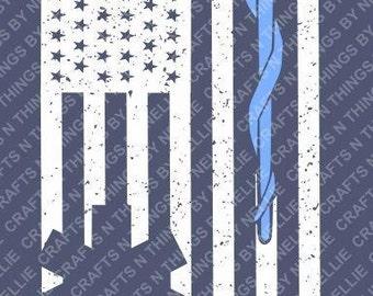 EMT Distressed Flag SVG