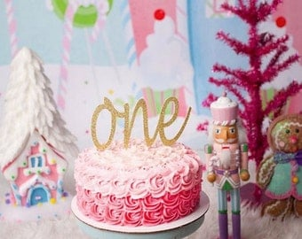 One Year Old Cake Topper One Cake Topper Glitter One