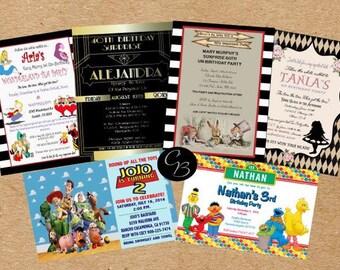 Printing service invitations