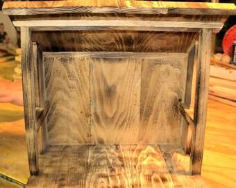 Rustic Nativity stable - medium