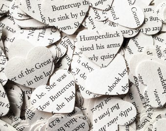 500 Princess Bride confetti hearts , party , wedding , card making , smashbooks, table top confetti
