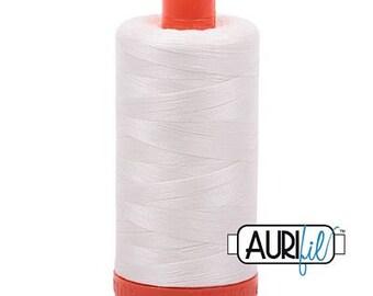 Aurifil 50 WT Mako Cotton Thread-Chalk 1422 yards #1050-2026
