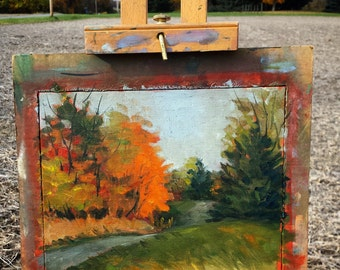 Plein Air Oil Painting - Autumn Scene