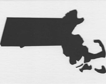Massachusetts Stencil Made from 4 Ply Mat Board