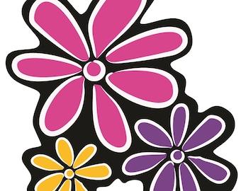 "2.8""x3"" Flowers Vinyl Decal Sticker"