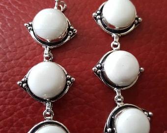 White Jade Earrings !
