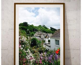 English Garden, English Cottage, English Countryside, English Country, Cadgwith Cove Art, Cadgwith Prints, Cornish Prints, Cornish Art Print