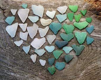 Valentines hearts sea glass hearts seaglass hearts valentine day card valentine card valentine day decor valentines day gift valentines gift