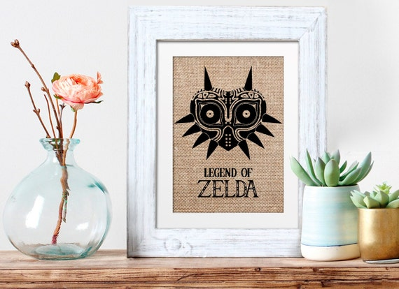 Items similar to legend of zelda art christmas wall decor for Decoration zelda