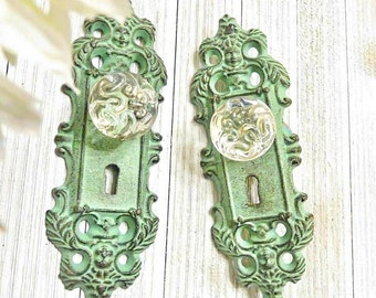 One Curtain Tie Back, Curtain Tieback, Door Plate, Door Knob Decor, Door Knob , Antique Door Handle, Door Handles, Shabby Chic Door Knob