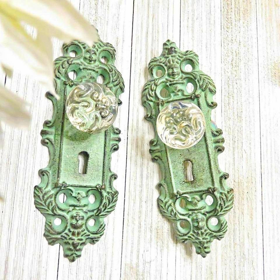 One Curtain Tie Back Curtain Tieback Door Plate Door Knob Decor. Shabby Chic  ...