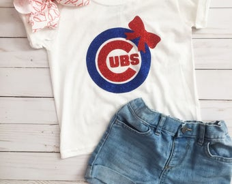 Chicago Cubs Shirt•Chicago Cubs Girl Shirt•Chicago Cubs Toddler•Chicago Cubs Baby•Cute cubs Shirt•Cubs Baby•Chicago Baseball•MLB Shirt