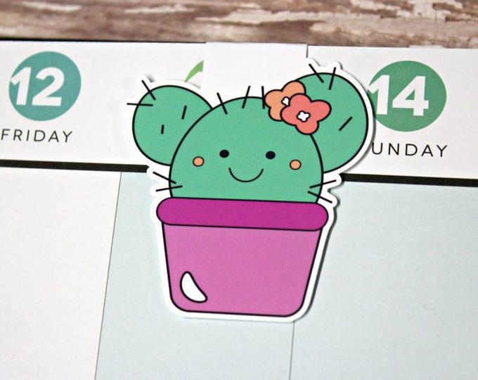 Cactus Bookmark - Magnetic Planner Bookmark - Planner Clip - Cactus Planner Clip - Magnetic Cactus Bookmark - Cactus Planner Clip - Cacti