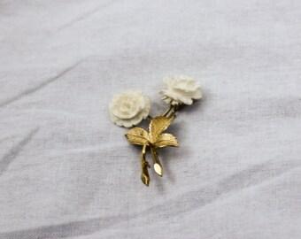 1950s Vintage Rose Brooch