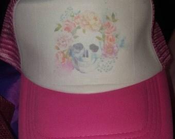 Ladies skull hat
